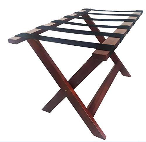 Great Price! LIZI Racks Household Goods Solid Wood Luggage Rack Backpack Tray Rack Folding Home Bedr...