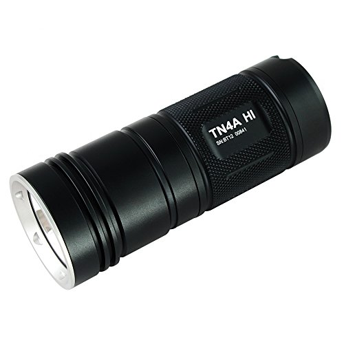 ThruNite TN4A HI flashlight, CREE XP-L HI LED, Max output 1050 lumens, Using 4AA batteries, IP-X 8 Waterproof (TN4A HI Cool White)