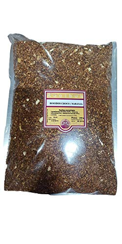 SABOREATE Y CAFE THE FLAVOUR SHOP Te Rooibos Chocolate y Naranja En Hoja Hebra A Granel Infusion Natural Adelgazante 1 Kg