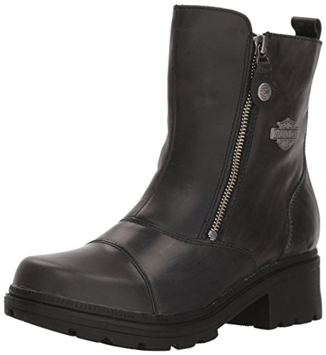HARLEY-DAVIDSON FOOTWEAR Women's Amherst Motorcycle Boot, Black, 9 Medium US
