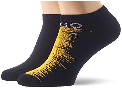HUGO Herren 2P AS Design CC Kurze Socken, Black1, 39-42