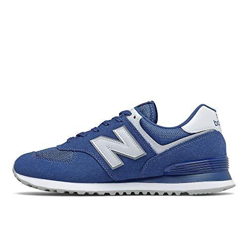 New Balance mens Iconic 574 V2 Sneaker, Atlantic/White, 10.5 US