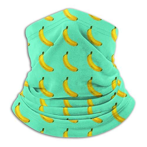 Towel&bag Banane Mikrofaser Halswärmer Turban Schal Sturmhaube Unisex Weich Winddicht Neuheit Stirnband für Sport Wandern Schwarz