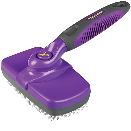 HERTZKO Self-Cleaning Slicker Brush for Dogs and Cats Pet...