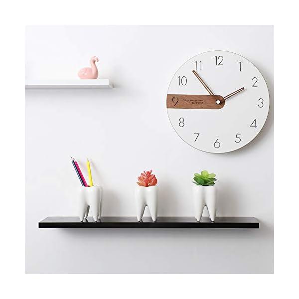 T4U Macetas para Cactus/Portalápiz de Ceramica Paquete de 3, Maceteros Pequeños para Suculento Plantas Casa y Jardin…