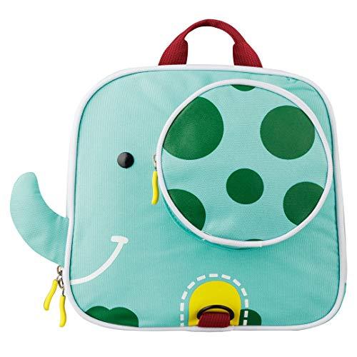Piepmatz und Grünschnabel Kindergarten-Rucksack Elefant mit Brustgurt, niedlicher Baby-Rucksack für 1-5 Jährige, Kinder-Rucksack, Mini Back Pack, Farbe: blau