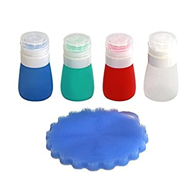 Viotyst Portable Salad Dressing Bottles Dressing to Go Salad Dressing Container leak proof, Mini Food Storage Containers, Small Dip, Condiment, or Sauce Containers, Leak-Resistant (Bottles 55ML)