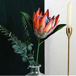 Tinsow Artificial Protea Cynaroides for Flower Arrangements, Faux Protea for Table Decoration Centerpieces, 3 PiecesSilk Protea Bouquet for Wedding