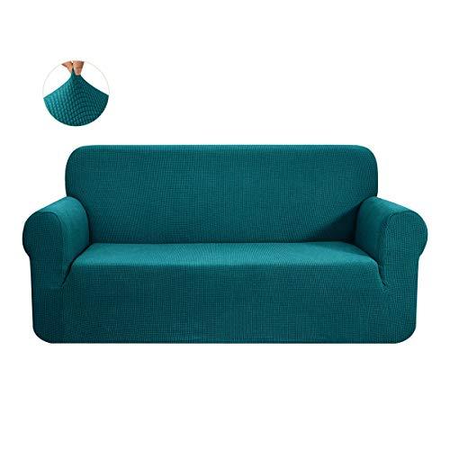 CHUN YI 1-Stück Jacquard Sofaüberwurf, Sofaüberzug, Sofahusse, Sofabezug für Sofa, Couch, Sessel, mehrere Farben (3 Sitzer, Dunkeltürkis)