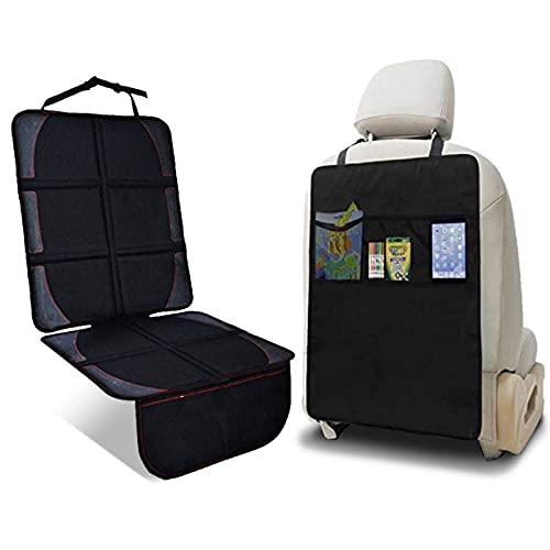 NEXSIA チャイルドシート 保護マット キックガード 滑り止め 車 座席保護 シートプロテクター (600D素材,2...