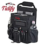 Spectre Car Organizers - Tidify Car Front Seat Organizer with Dedicated Tablet/Laptop Storage, Stabilizing Side Straps, Soft Adjustable Shoulder Strap and Hardened Buckles - Your Office Away from Office