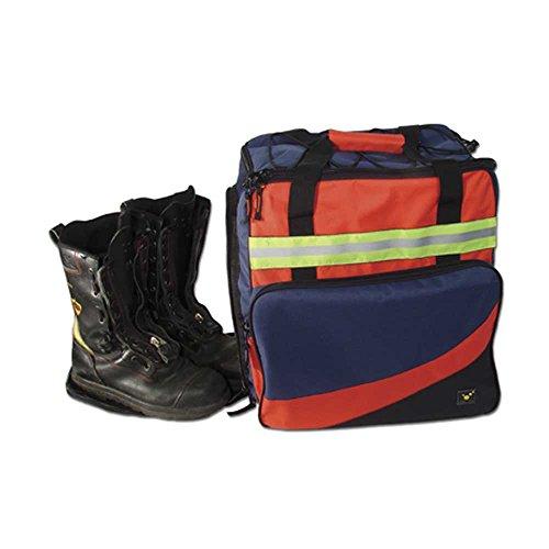 TEE-UU Equipment-Tasche Multifunktionstasche Rucksack Feuerwehr Rettungsdienst, 50L, 42x41x30cm, blau/schwarz/rot
