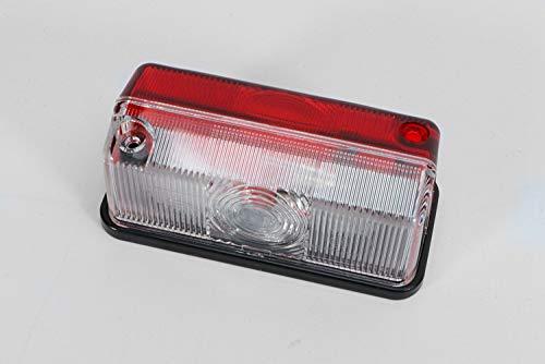HELLA 2XS 005 020-057 Umrissleuchte - T4W - 12V - Lichtscheibenfarbe: glasklar/rot - Anbau - Einbauort: seitlicher Anbau