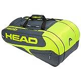 HEAD Elite Allcourt, Borsa per Racchetta Unisex Adulto, Grey/Neon Yellow, One Size