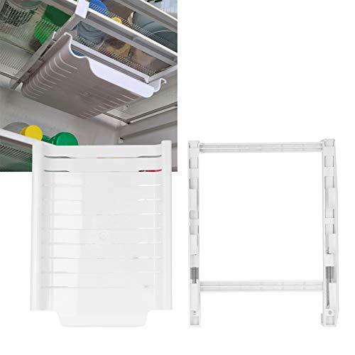 Estante para refrigerador, contenedor de estante de cajón resistente al desgaste de gran capacidad, para cocina de refrigerador(white)