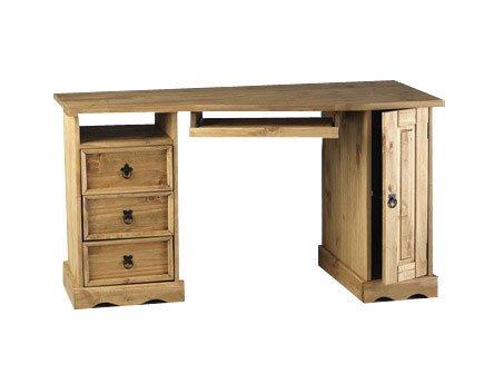 Mercers Furniture Corona Corner Computer Desk in Solid Pine