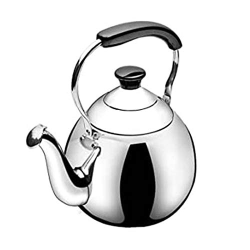 ASDFDG Stovetop kettle Stainless Steel Whistle Tea Kettle Stove Top Teapot with Heat-Resistant Ergonomic Handle Suitable for Loose Tea Coffee (Size : 3L)