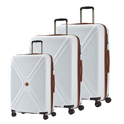 """PARADOXX"" von TITAN: Robuste Hartschalen-Trolleys in modernem Design mit Akzenten in Leder-Optik, 833102-80, one size, White"