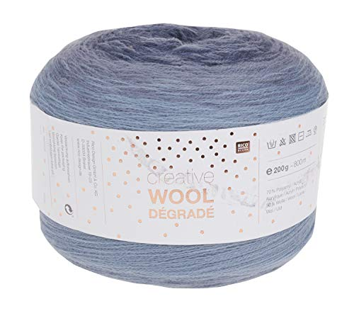 Rico Wolle Creativ Wool Dégradé 200g 4-fädig Jeans