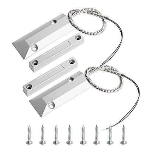 Aoje-Link OC-55 NCローリングドアコンタクト磁気リードスイッチアラームセンサー、2線式、亜鉛合金、2個