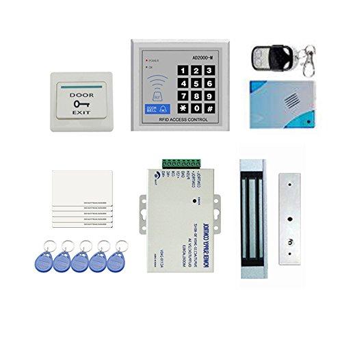 KKmoon Tür Access Control Kit RFID DIY Voll Komplette Set für Einzeltür 180kg/ 396Lbs Elektrisches Magnetschloss Karte PIN Fernbedienung + Türklingel + Exit-Taste