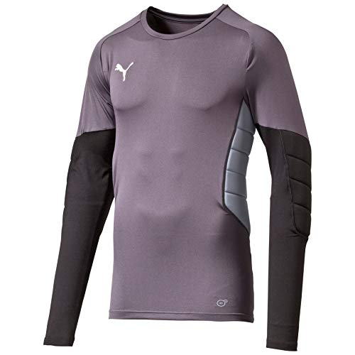 PUMA GK Padded Shirt Maglia da Portiere, Uomo, Ebony-Black-Tradewinds, L