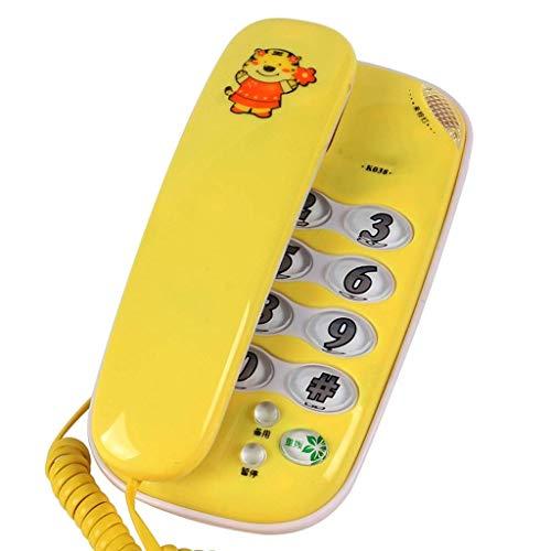 FZYE Teléfono- Teléfonos de extensión de Doble Uso de sobremesa Antiguos montados en la Pared - Teléfono con Cable con Bloqueador de Llamadas, botón Grande y Fuerte Teléfono con Cable -