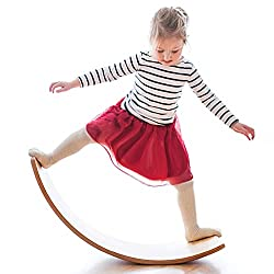top rated Wooden vibration balance board, 35 inch real wood gentle monster rocker board, outdoor infant board … 2021