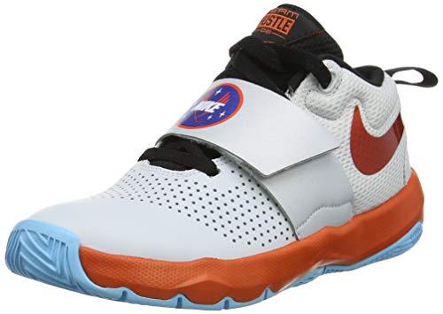Nike Hustle D 8 SD, Zapatos de Baloncesto para Bebés, Multicolor (Pure Platinum/Team Orange/Black 001), 38 EU