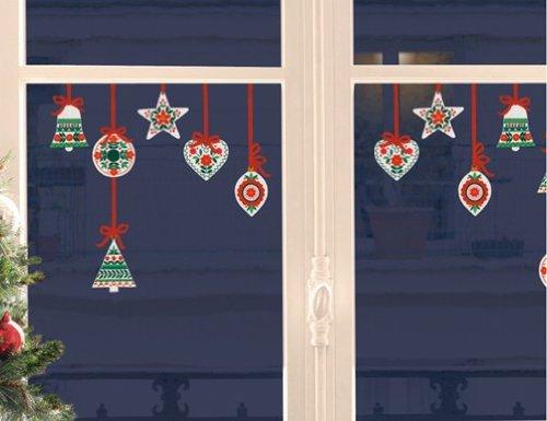 Xmas Fenstersticker Traditionelle Weihnachtshänger