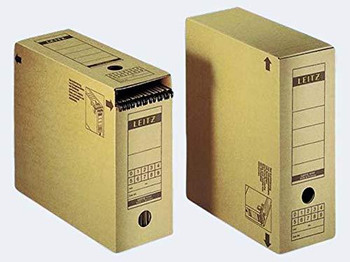 Leitz Archiv-Schachtel, A4, mit Verschlussklappe, naturbraun