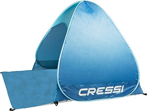 Cressi Beach Tent Tenda da Spiaggia e Tempo Libero di Facile Trasporto e Montaggio, Blu, 165 x 150 x 110 cm