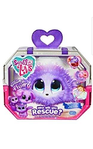 Scruff-a-Luvs Purple Rescue Toy Mascota para Perro, Gato o Conejo aparte