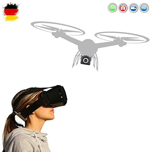 MJX Upgrade Kamera + VR Brille KIT - Wifi 720p HD Live Übertragungs-Kamera KIT mit Virtual Reality VR Brille für Smartphone 3D Brille, kompatibel mit Quadcopter MJX X101, X102H, X600, X600H usw..