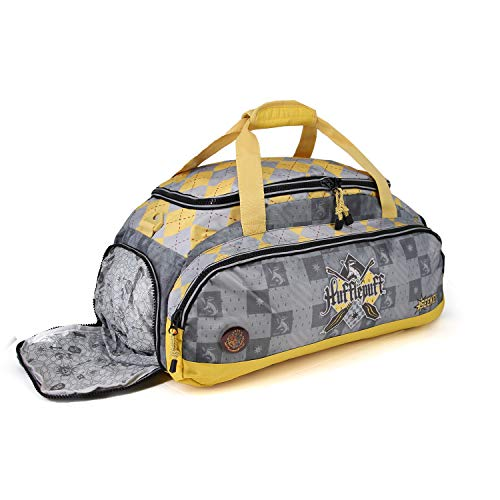 Karactermania Harry Potter Quidditch Hufflepuff-Nomad Sports Bag Sporttasche, 57 cm, 13.5 liters, Gelb (Yellow)