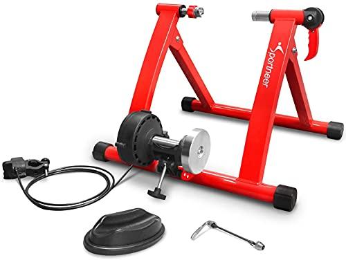Fahrradtrainer, Sportneer Fahrrad Rollentrainer Stahl Fahrrad Übung Magnetischer Ständer mit Geräusch Reduktions, Rad