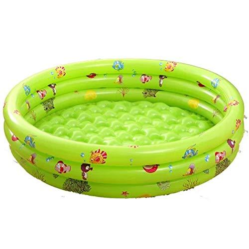 DFSDG Piscina inflable para niños, piscina al aire libre, bañera, portátil, charcos de natación, baño seco para jugar en la piscina (color: verde, tamaño: 80 x 64 x 28 cm)