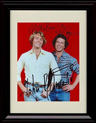 Framed Dukes of Hazzard Autograph Replica Print - Bo and Luke