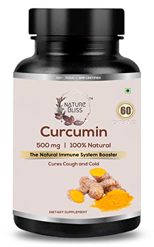 Nature Bliss Curcumin Extract 500 mg 100% Natural Immune System Booster Anti-Inflammatory Antioxidant - 60 Capsules
