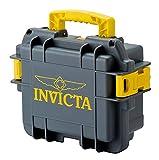 Invicta 3 Slot Collectors Grey and Yellow Impact Resistance Dive Case Box
