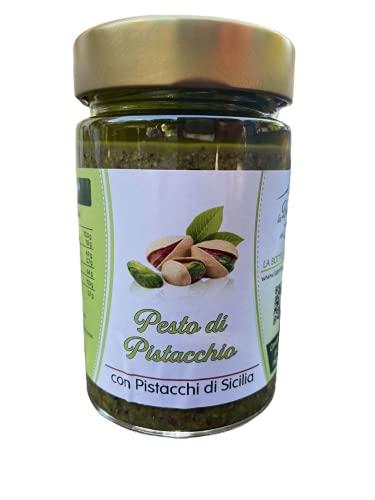 Pesto Al Pistacchio Sicilia 190gm, Prodotto in Sicilia, Ottimo Condimento per Pasta, Carne e Pesce