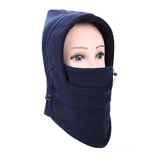 Balaclava Ski Face Mask Windproof Men Women Warm Hood Winter Masks Thermal Fleece Fabric with Breathable Vents for Cold Cycling Skiing Motorcycle Face Hats (H)