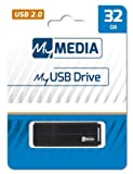 MyMedia Pen Drive 32 GB USB 2.0 69262 Pendrive Pendrive Pendrive Pendrive Pendrive Pendrive Pen Drive de alta velocidad 32 GB con tapa y llavero