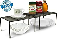 item in Kitchen category on Amazon USA, first time launched in India Expandable from 13.75 to 26 inches Size: Medium Shelf 12.5-inch L x 8.5-inch D x 5.75-inch H Size: Large Shelf 13.75-inch L x 9.25-inch D x 6.25-inch H Elegant Perforated Design, an...