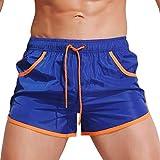 KPILP Herren Boxer Boxershorts Unterwäsche Sportswear Breathable Badehose Hosen Bademode Shorts Slim Wear Bikini Badeanzug Schwarz ( Blau,XL