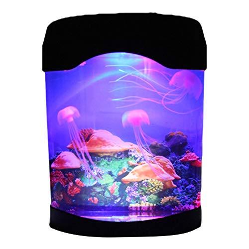 KAIXIN Lámpara LED Medusa, Lámpara de Acuario de Medusa USB/Alimentado por batería Luz del Tanque de Medusa Luz de Humor Que Cambia de Color Luz de Noche de decoración de habitación Infantil