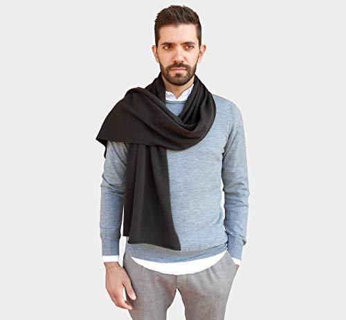 Sciarpe Uomo Invernali, Sciarpa 100% Cashmere Uomo, Sciarpa Cachemire cm 45 x 190, Sciarpa Grande, Maxi Stola Inverno