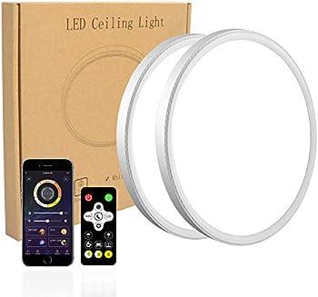 2-Pack Modern 12 Inch 28W Led Flush Mount Ceiling Light