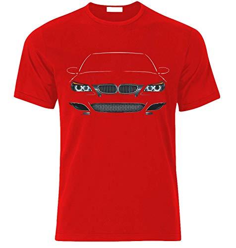 T-Shirt Inspiriert von E60 Fühle die Kraft Race Drift Speed Auto Fans T Shirt T-Shirt Weihnachts Xmas Gift (M, ROT)