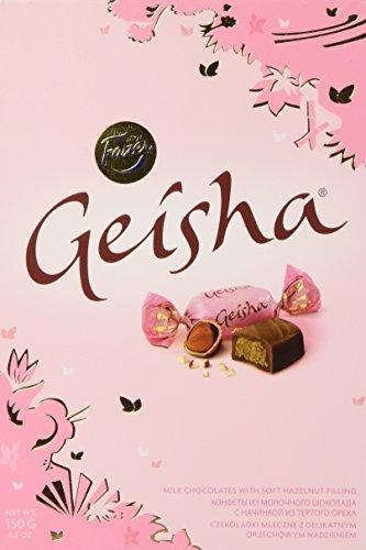 Geisha Milch Pralinen mit weichen Haselnuss Füllung 150g by Karl Fazer